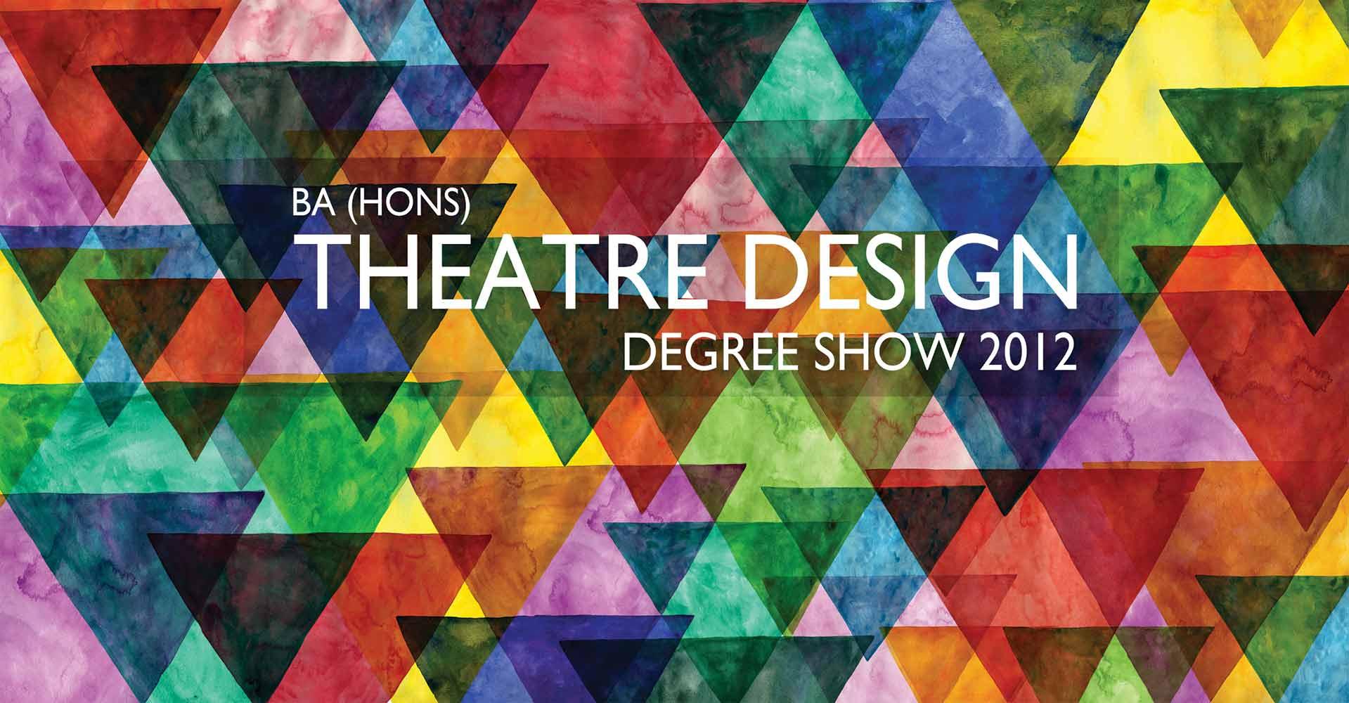 Theatre Design Degree show